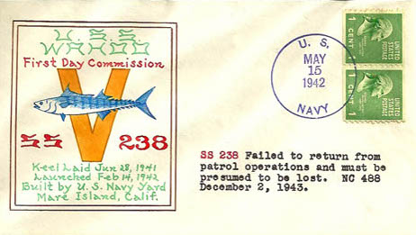 USS Wahoo Naval Cover