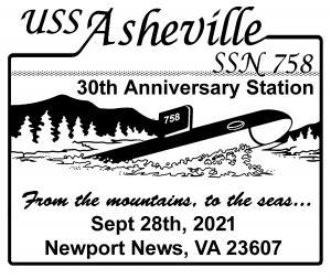 SSN-758 30th Anniversary pmk rev.