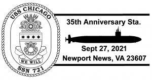 SSN-721 35th Anniversary pmk