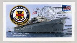 USS LAND ANNV cpt cover #1