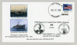 USS LAND ANNV cpt cover #2